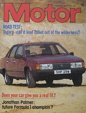 Motor magazine 16/5/1981 featuring Talbot Tagora road test, Maserati cutaway