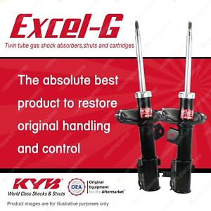 2 x Front KYB Excel-G Strut Shock Absorbers for Kia Rio JB G4ED G4EE 1.4 1.6