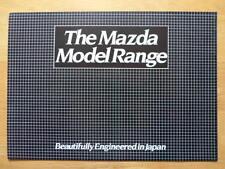 MAZDA Cars 1980 UK Mkt sales brochure - 323 626 929 RX7 B1800 E2000