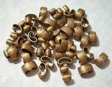 Vintage Etched Brass Foldover Connectors Jewelry Findings 12pc Lot