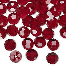 4 Siam Swarovski 5000 Round Crystal Beads 10MM