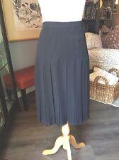 Chanel Black Pleated Silk Chiffon Skirt 36 Fab!
