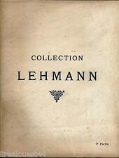 Collection Lehmann, 2e Partie tableaux anciens, pastels, dessins