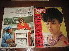 RIVISTA TEMPO 1961/4=JOAN COLLINS=MINA=IMERIO MASSIGNAN=CLAUDIA CARDINALE=