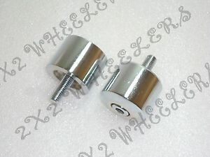 ROYAL ENFIELD NEW CHROMED HANDLE BAR END WEIGHTS (code2474)