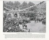 1897 Vittoriano Stampa ~ Regina Presso Mary Abbots Kensington ~ ( Testo