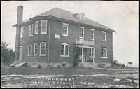 TOPTON PA Lutheran Orphans Home Infirmary Antique B&W Postcard Old Vtg