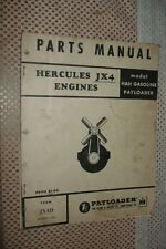 Ih International Hercules Jx4 Engines Parts Manual Hough Book Catalog Payloader