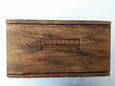FIRESTONE TIRES WOOD BOX TRINKET JEWELRY TOOL WOLVERINE AUTO BROKERS MICHIGAN