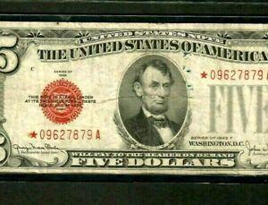 "$5 ""STAR"" (1928-F) ""STAR""(RARE) $5 STAR! STAR! STAR ! (1928-F) STAR> CRISPY!!!!!"