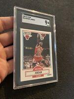 Michael Jordan SGC 9 MINTY MINT Fleer 1990 Card #26 SLABBED FIGHT INFLATION NR