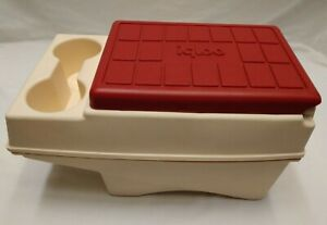 VINTAGE IGLOO LITTLE KOOL REST ICE CHEST CONSOLE RED LID