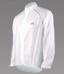 Lambda Quality Waterproof Windproof Cycling Rain Jacket clear white S M L XL XXL