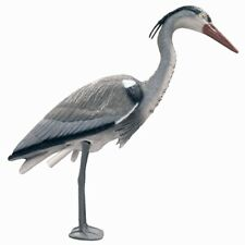 More details for plastic heron pond fish protector realistic life like bird scarer stands 76cm