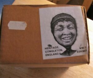 "HERITAGE of ENGLAND Chalkware ESKIMO Wall Mask 5"" Congleton Similar to Bossons"