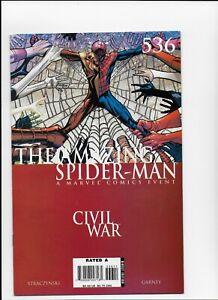 Amazing Spiderman # 536 Civil War N mint 1st print Marvel Comics
