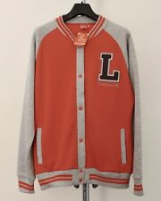BNWT Lonsdale Sweatshirt ~18~ Coral/Grey Marl Popper Front Long Sleeve Length27""