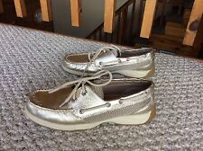 SPERRY Top Sider Bronze Boat Shoes Leather Authentic size 6.5
