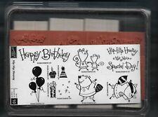 RACCOON BEAVER HAPPY BIRTHDAY Wildlife Stampin' Up! Hip Hip Hooray Rubber Stamp
