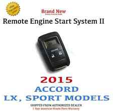 2015 Honda ACCORD SEDAN LX, SPORT Genuine OEM Remote Engine Start System II 2015