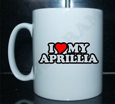 I LOVE/HEART MY APRILLIA Novelty Printed Tea/Coffee Mug IDEAL GIFT