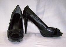 New Nine West Black Mult. Peek Toe Heels, Size 12