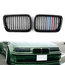 Gloss Black Front Nieren Grill Kühlergrill Für BMW E36 1997-1999 3 Series DE