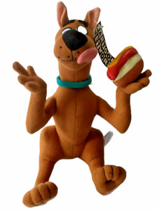 """Scooby-Doo 9"""" Plush Toy with Hot Dog 1998 Play-by-Play Cartoon Network"""