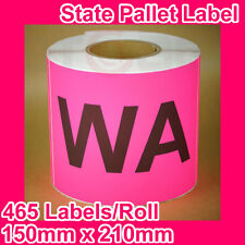 10 Rolls of State Label/Pallet Label - WA (150mm x 210mm, 4650 Labels in total)