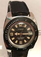 RARO di lavoro da uomo vintage Timex Divers Orologio Resistente all'acqua 8o FT vento Manuale