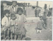 RARE AUTHENTIC ROMANIAN GYPSY picture, Great War era 1917. №011 gypsy kids