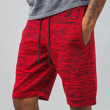 Nike Tech KNIT Shorts 728675 671 RED/BLACK (MEN'S SMALL) S