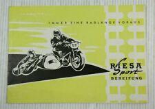 Prospekt Immer eine Radlänge voraus Riesa Sport Bereifung Reifenprofile 1957