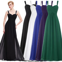 2018 Women Chiffon Long Prom Dress Evening Party Formal Cocktail Bridesmaid Gown
