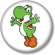 "Super Mario Brothers Yoshi 1"" 25mm Pin Button Badge Bros Nintendo Video Game"