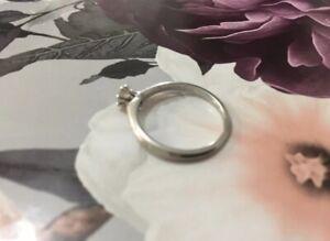 Tiffany & Co .25 Diamond Solitaire Platinum PT 950 Engagement Ring.