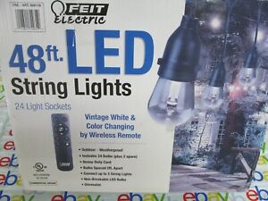 Feit Electric 48ft 24 LED RGB Outdoor Weatherproof Color Changing String Lights
