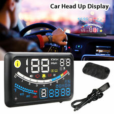 "5.5"" Car Hud Head Up Display Obd2 Port Speedometer Projector Speed Warning Gauge"