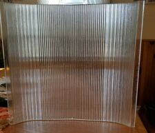 Vintage Industrial Holophane Glass Light Shade 12 7/8×12 x1/4 thick