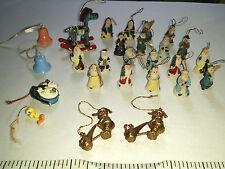 Lot of 26 Random Miniature Christmas Ornaments Santa Carolers Tweety Sylvester