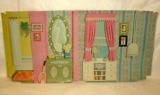 Vintage 1973 Barbie 3 Story Townhouse #7825 3rd Floor Backdrop, Bright Nice