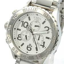 New NIXON Watch 42-20 CHRONO Silver White A037-100 A037100