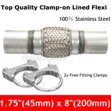 Exhaust Clamp-on 1.75''x 8'' inch 45 x 200mm Joint Repair Flexi Pipe Tube Flex