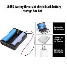 1pcs 3 Slots 18650 Batteries Storage Box Case DIY Clip Holder Organizer Containe