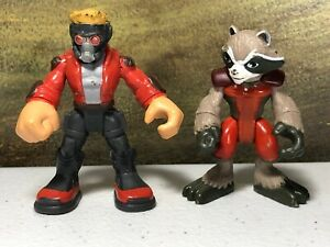 Imaginext Marvel Guardians of the Galaxy Star Lord Rocket Raccoon figures toys