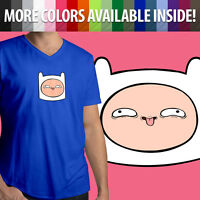 Adventure Time Funny Face Finn Head Hat Silly Cartoon Mens Women Tee T-Shirt