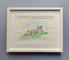 "Original Framed Watercolour ""Inchcolm Abbey"", Scotland"