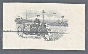 uba66-2 Mexico 1919 Special Delivery Sc# E1,  proof/essay color missing