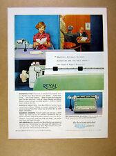 1959 Royal Electric green Typewriter secretary office photo vintage print Ad
