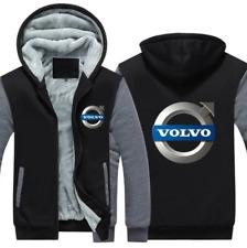 Volvo Automobile Kapuze Reißverschluss Jacke Mantel Winter Warm Schwarz und Grau